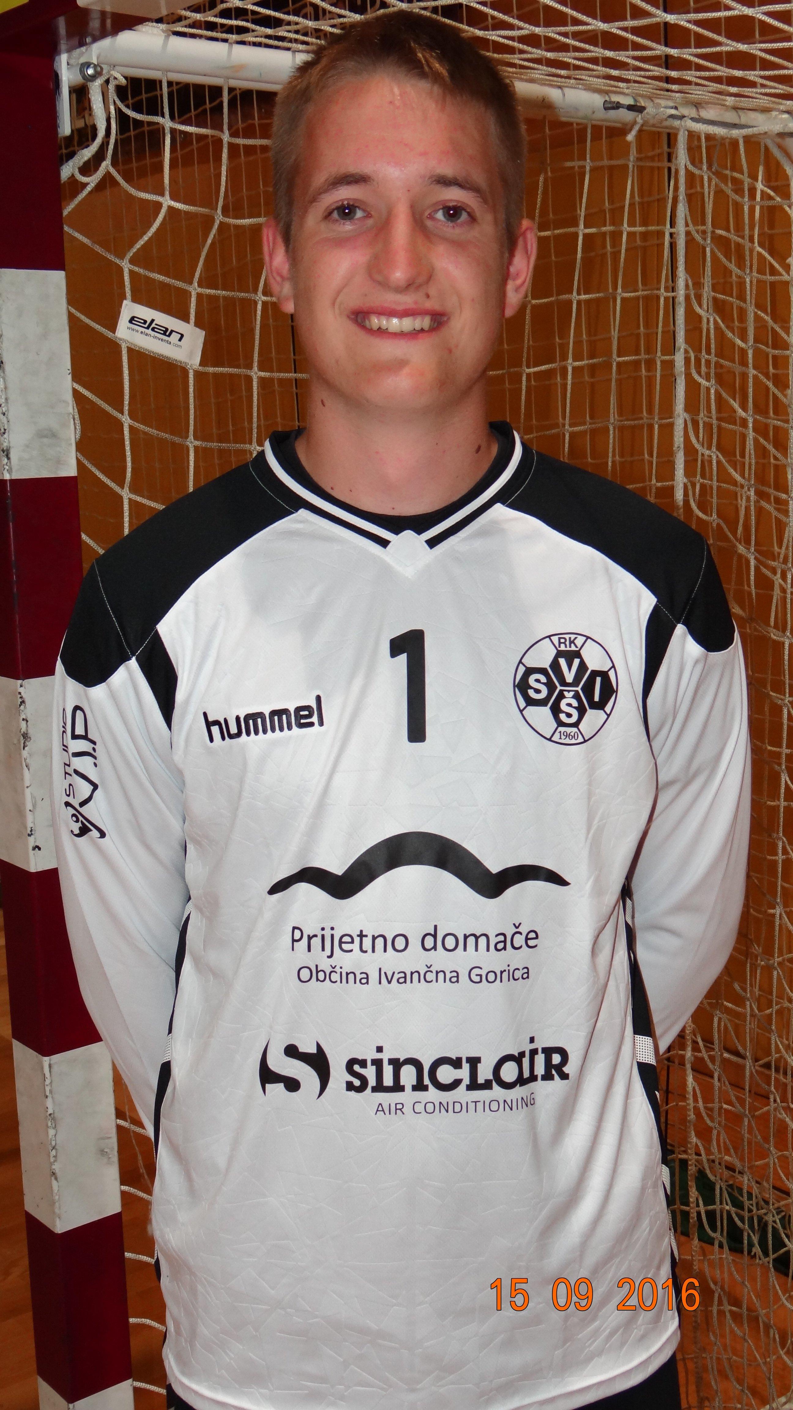 David Podržaj, 19 let, vratar